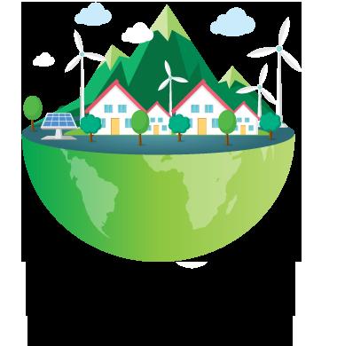 Cidade modelo utilizando Painéis de Energia Solar - Solar Brazil